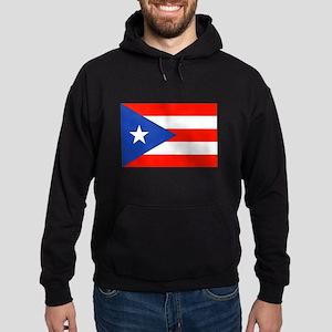 Boricua Bandera Puerto Rican Orgullo Hoodie (dark)