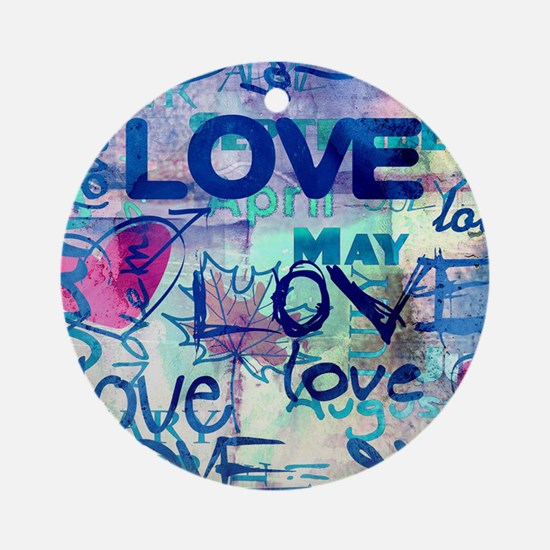 Abstract Love Painting Ornament (Round)