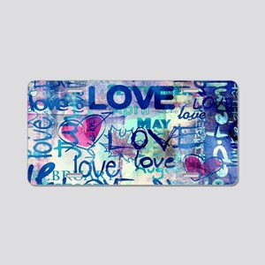 Abstract Love Painting Aluminum License Plate