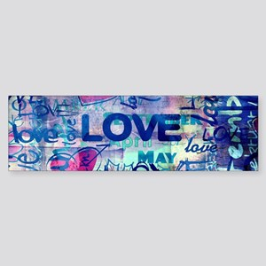 Abstract Love Painting Bumper Sticker