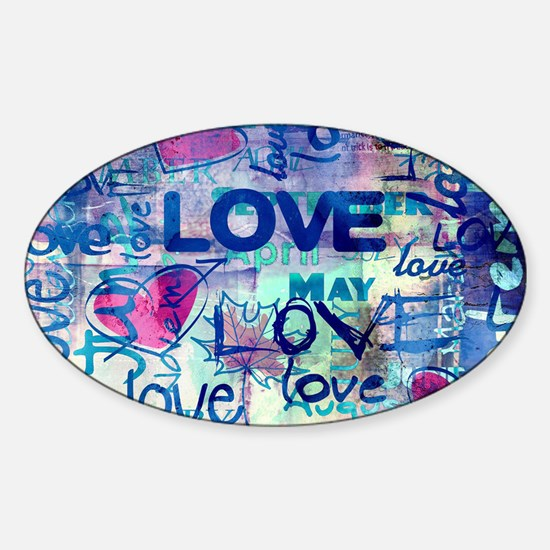 Abstract Love Painting Decal