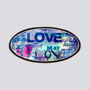 Abstract Love Painting Patch