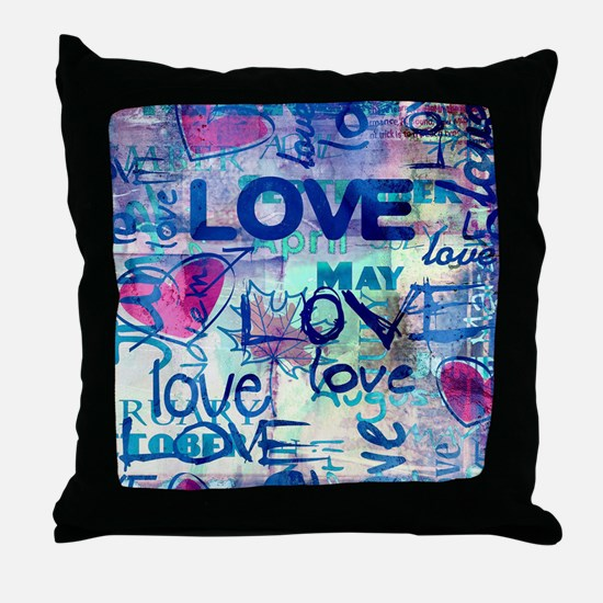 Abstract Love Painting Throw Pillow