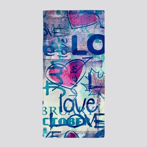 Abstract Love Painting Beach Towel
