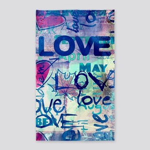 Abstract Love Painting Area Rug