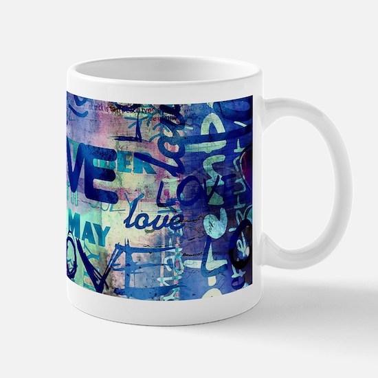Abstract Love Painting Mugs