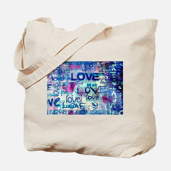 Abstract Love Painting Tote Bag