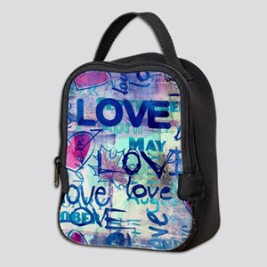 Abstract Love Painting Neoprene Lunch Bag