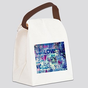 Abstract Love Painting Canvas Lunch Bag
