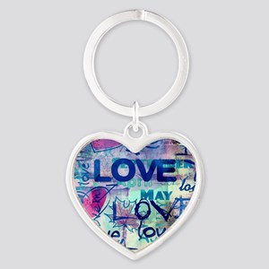 Abstract Love Painting Keychains