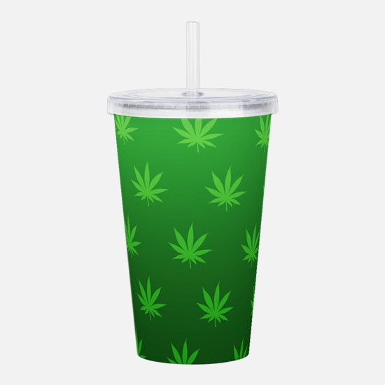 Marijuana Leafs Acrylic Double-wall Tumbler