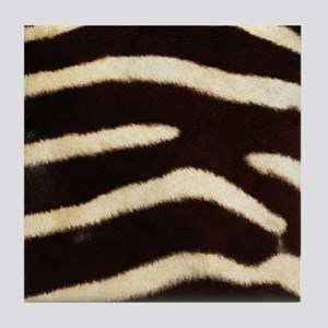 Zebra Fur Tile Coaster