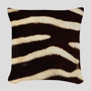Zebra Fur Woven Throw Pillow