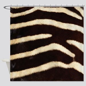 Zebra Fur Shower Curtain