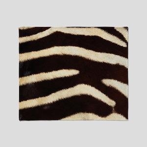 Zebra Fur Throw Blanket