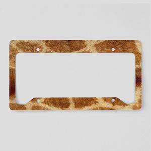 Giraffe Fur License Plate Holder