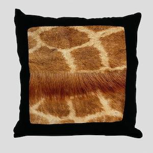 Giraffe Fur Throw Pillow