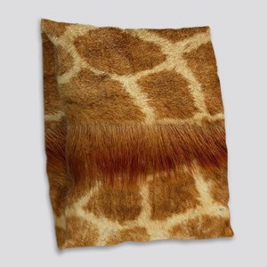 Giraffe Fur Burlap Throw Pillow