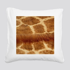 Giraffe Fur Square Canvas Pillow
