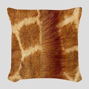 Giraffe Fur Woven Throw Pillow