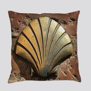 Gold El Camino shell sign, pavemen Everyday Pillow