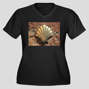 Gold El Camino shell sign, pavem Plus Size T-Shirt