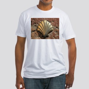 Gold El Camino shell sign, pavement, Leon, T-Shirt