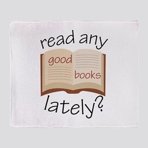 Read Any Good Books Lately Throw Blanket