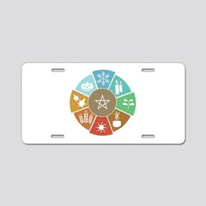 Wheel Of The Year Aluminum License Plate