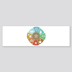Wheel Of The Year Bumper Sticker