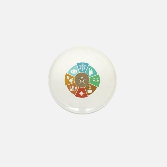 Wheel Of The Year Mini Button