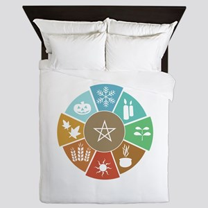 Wheel Of The Year Queen Duvet