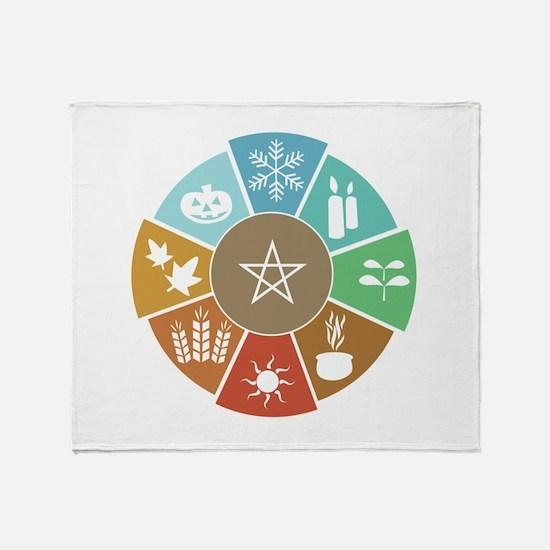 Wheel Of The Year Throw Blanket