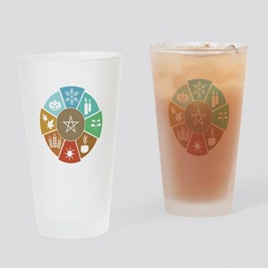 Wheel Of The Year Drinking Glass