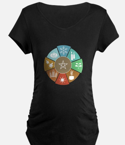 Wheel Of The Year Maternity T-Shirt