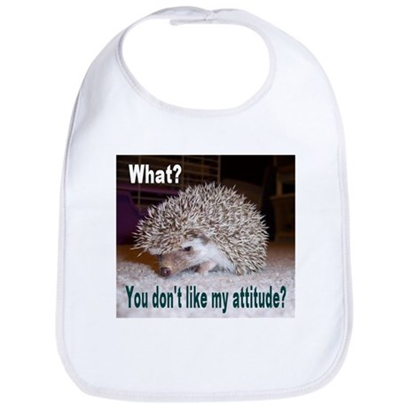 My Attitude Hedgehog Bib