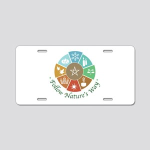Follow Nature's Way Aluminum License Plate