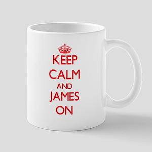 Keep Calm and James ON Mugs