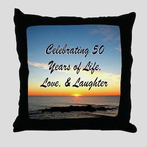 INSPIRATIONAL 50TH Throw Pillow