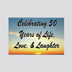 INSPIRATIONAL 50TH Rectangle Magnet