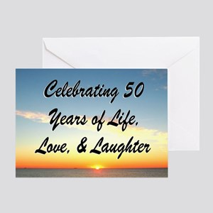 50th birthday christian greeting cards cafepress inspirational 50th greeting card m4hsunfo