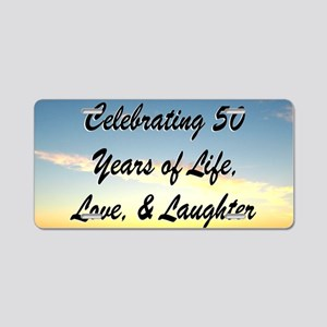 INSPIRATIONAL 50TH Aluminum License Plate