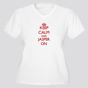 Keep Calm and Jasper ON Plus Size T-Shirt