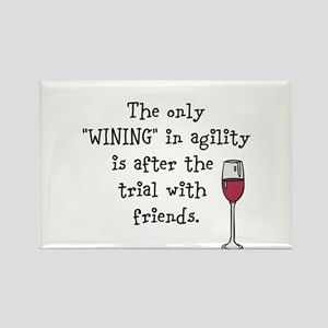 Wining with friends Rectangle Magnet