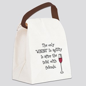 Wining with friends Canvas Lunch Bag