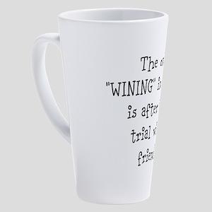 Wining with friends 17 oz Latte Mug