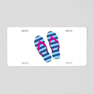 Flip Flops Aluminum License Plate