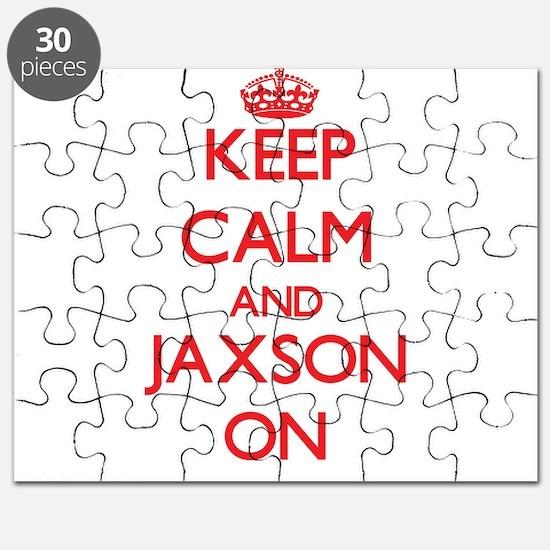 Keep Calm and Jaxson ON Puzzle