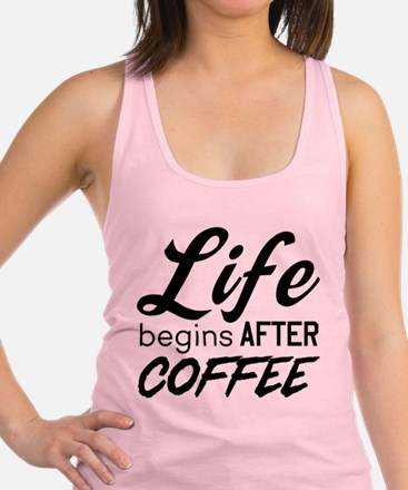 Life begins after coffee Tank Top