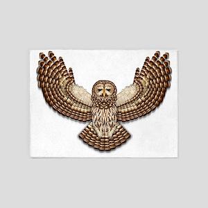 Beadwork Barred Owl 5'x7'area Rug
